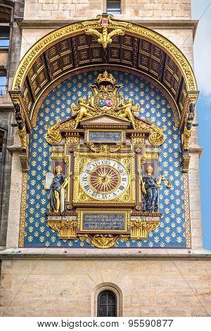 The Clock Tower (tour De L'horloge), La Conciergerie, Paris