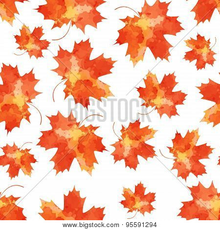 Seamless vector pattern mapple leaves