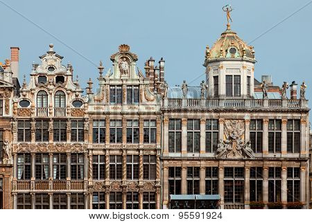 Historical Buildings Of Brussels Grand Place