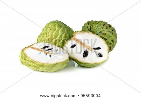 Custard Apple Or Sugar Apple Fruit On White Background