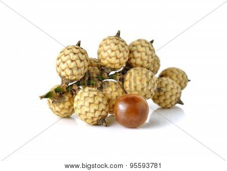 Bunch Of Rattan Fruits On White Background