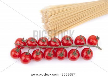 Red Cherry Tomatoes And Noodles.
