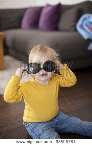 Baby With Mother Sunglasses