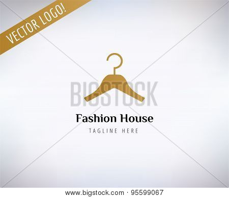 Hanger vector logo template. Fashion, clothes and shop symbols. Stocks design elements.