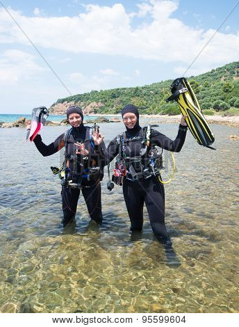 Happy Scuba Divers