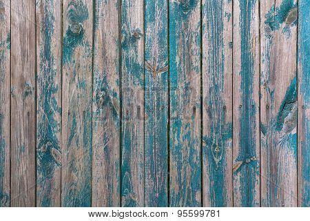 Blue-gray Painted Wood Planks. Background And Texture