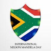 image of nelson mandela  - illustration of a shield for International Nelson Mandela Day - JPG