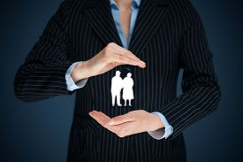 image of life-support  - Pension insurance senior business life insurance and support seniors concepts - JPG