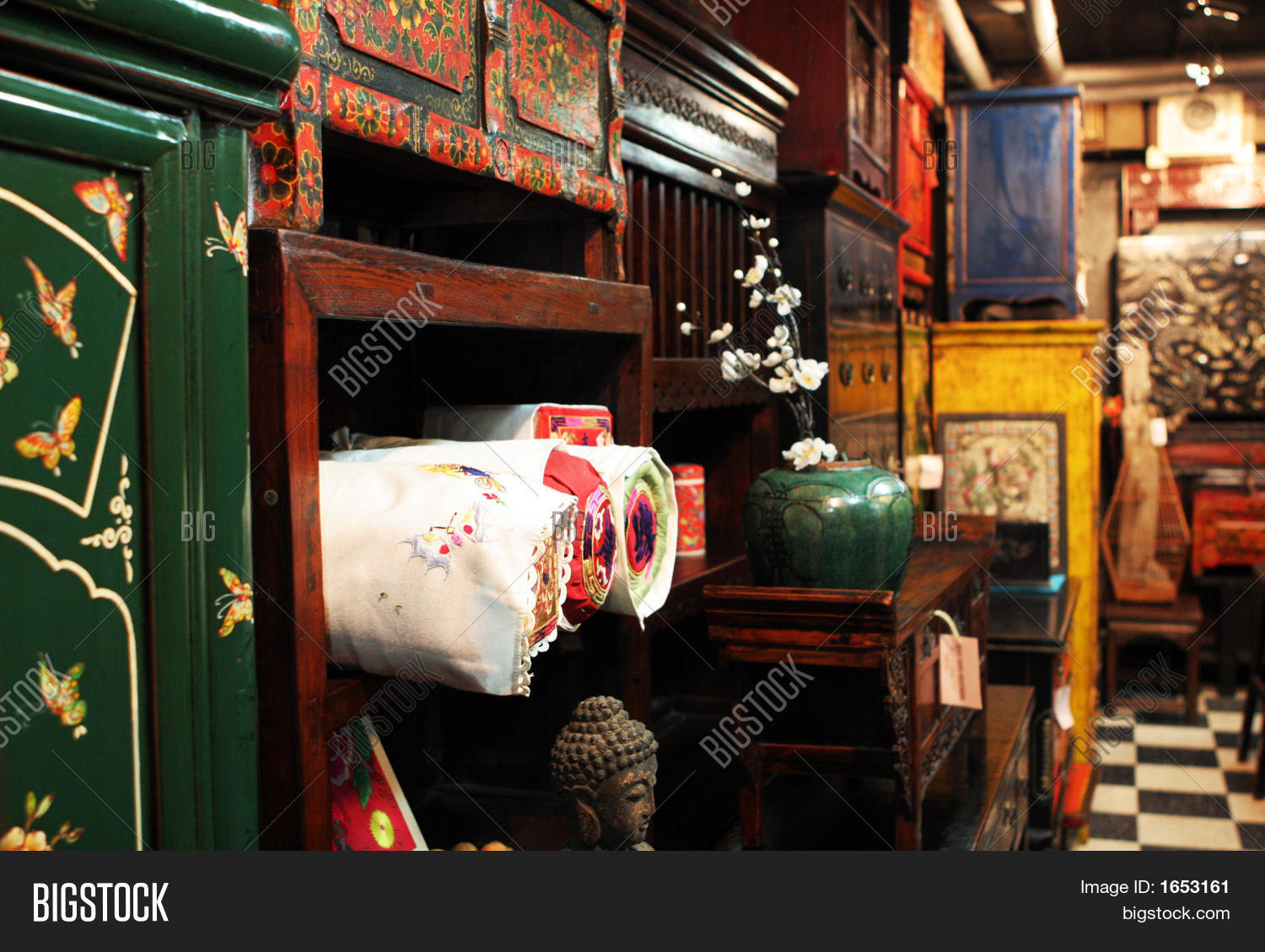 Asian Antique Furniture Store Stock Photo Stock Images Bigstock