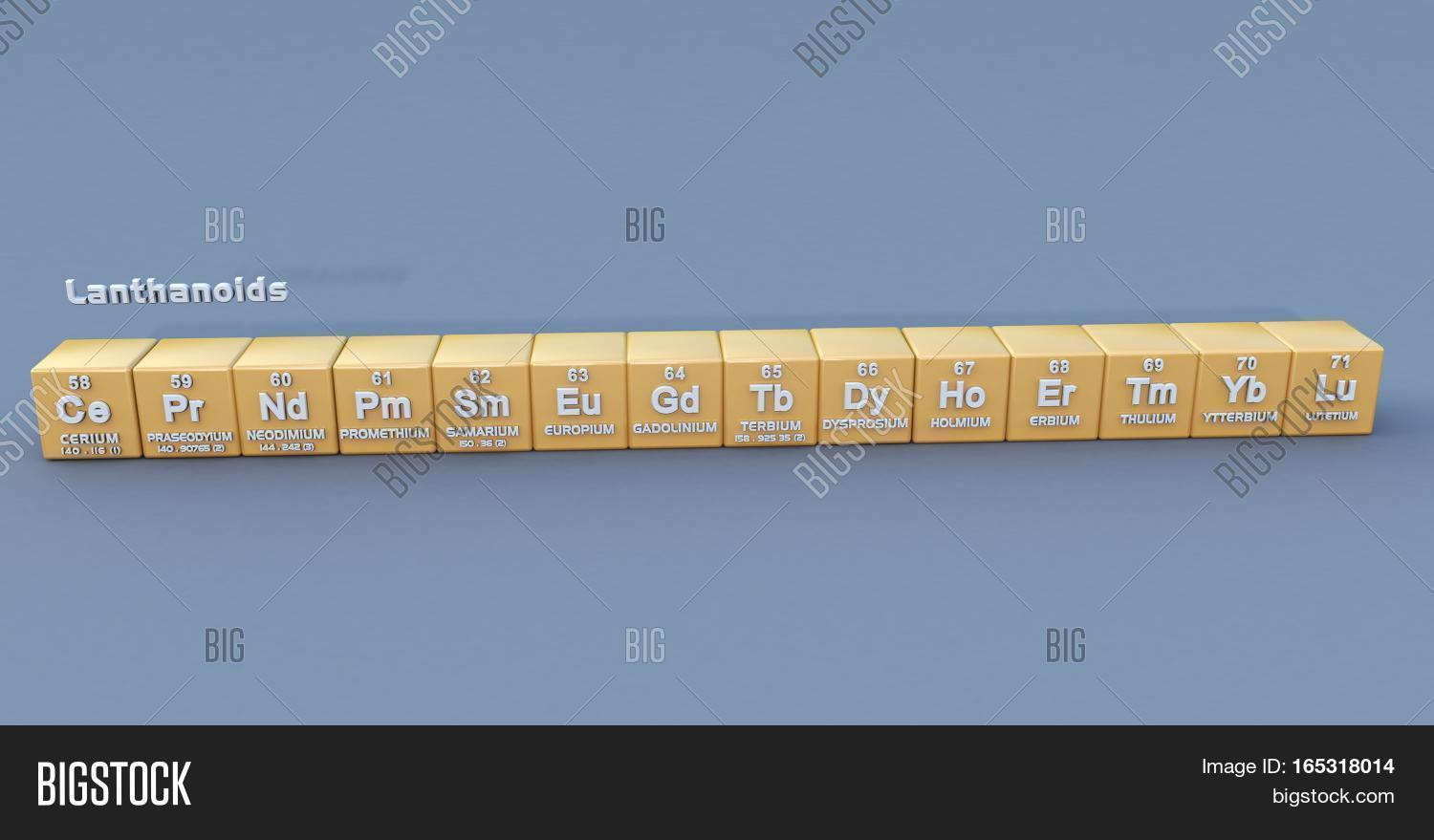 Any series fifteen metallic image photo bigstock any of the series of fifteen metallic elements from lanthanum to lutetium in the periodic table gamestrikefo Gallery