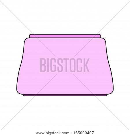Pink Makeup Bag Beautician. Package For Cosmetics Isolated