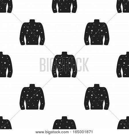 Rash icon black. Single sick icon from the big ill, disease black. - stock vector