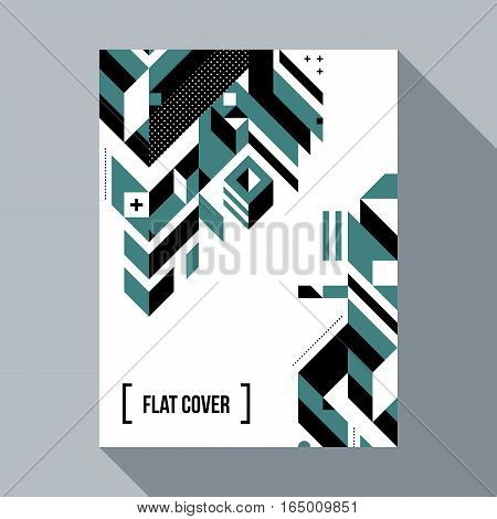 Futuristic Poster/cover Design With Abstract Geometric Element. Style Of Futurism And Modern Graffit
