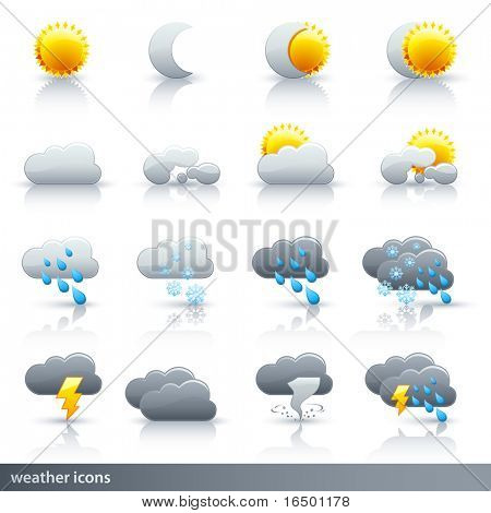 Weather Icon Set Vector - meteorologia