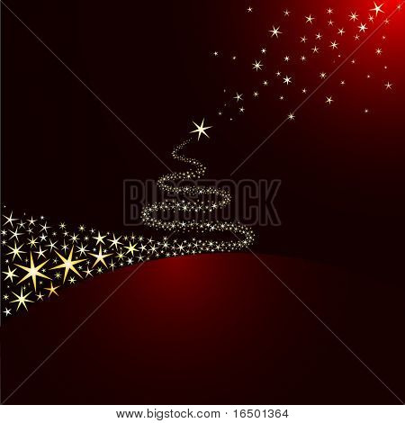 Shiny Christmas tree of Star Lights  - Vector version in my portfolio