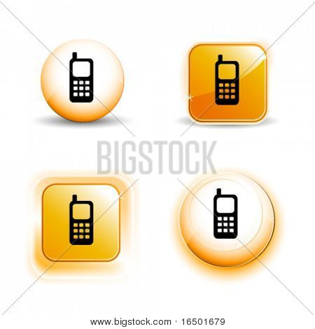 Small Set of Shiny Glossy Mobile Phone Icons