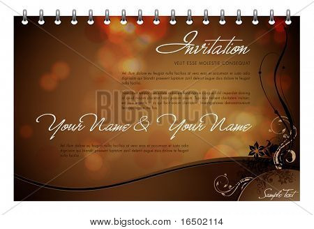Vector Invitation Card - Greeting Card or Menu Template
