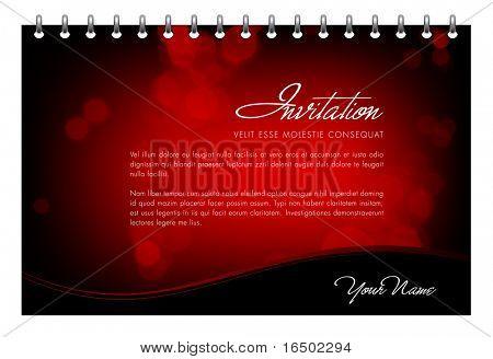 Vetor cartão de convite de dia dos namorados - cartão ou modelo de Menu