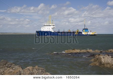 Blue Supply Boat