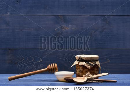 Set Of Nuts, Honey With Stick