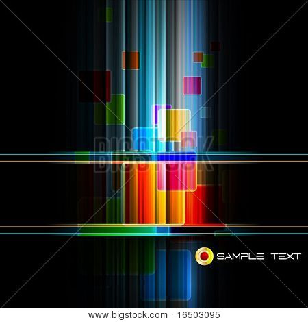 Intensive Colors in Neon Stripes - Abstract EPS10 Vector Background