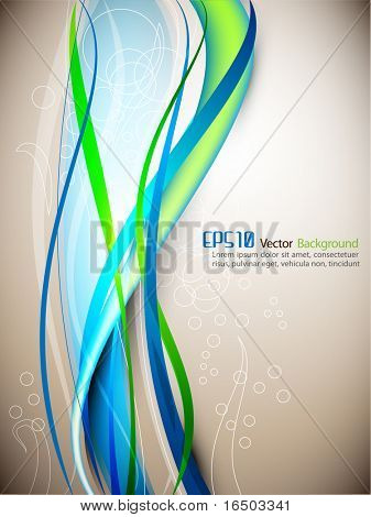 Intensive Colorful Waves | Modern EPS10 Background | Editable Vector Template