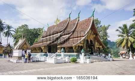 Luang Prabang, Laos - December 3, 2015: Wat Chiang Tong, Luang Prabang, Laos