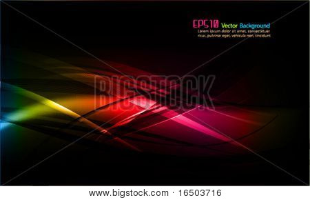 intensive Farben | Abstract wellig Vector Hintergrund