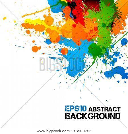 colorful Farbe | Spritzer Tinte | DROPS | Vector Grunge hintergrund