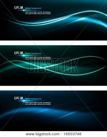 Lisa olas | Plantilla de diseño oscuro para diseños masculino | EPS10 Vector fondo