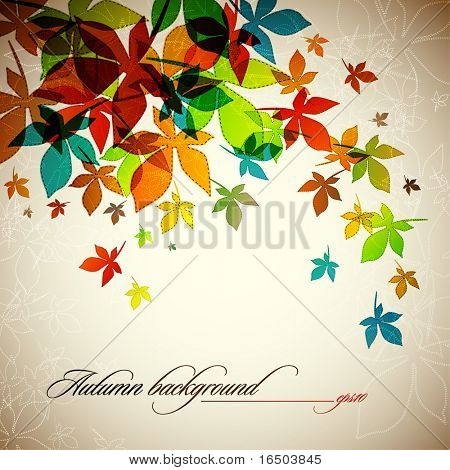 Autumn Background | Falling Leafs | EPS10 Compatibility Required