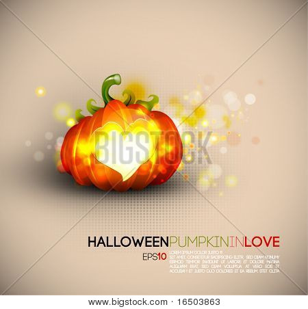 Halloween Pumpkin Spreading Love | EPS10 Compatibility Needed | Objects Separated on layers named accordingly