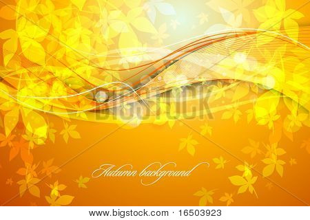 Vivid Autumn Background | Falling Leafs | EPS10 Compatibility Required