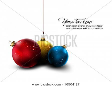 Vector Christmas Card | Isolated Christmas Balls