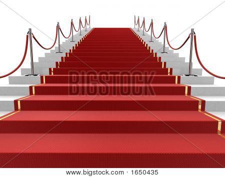 roten Teppich auf der Treppe
