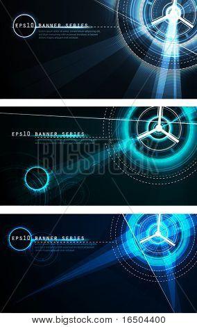 Conjunto de Banner futurista | Série de ficção científica de vetor