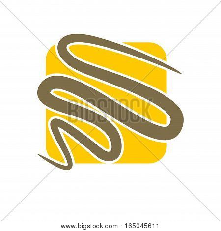 Line In Square Abstract Logo. Emblem For Company