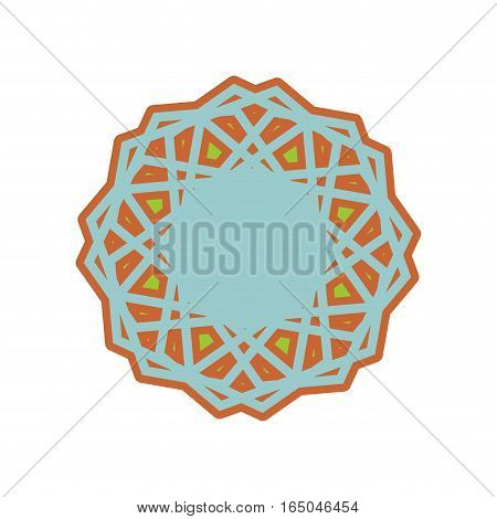 Halal Template For Islamic Pattern. Logo For Properly Cooked Food And Permitted To Muslims