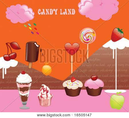 vector candy land