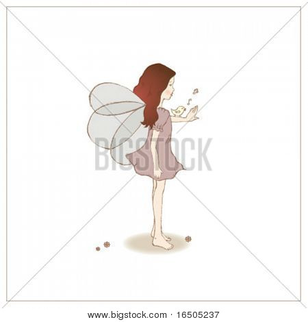 vector fairy illustration
