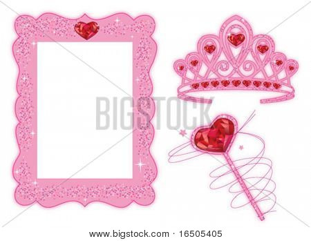 vector set for princess