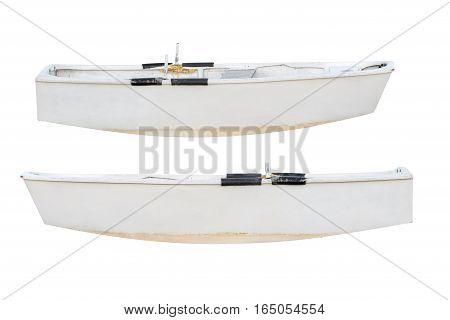 image of white boat isolated on white background