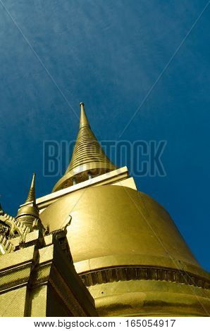 Buddhist temple of Thailand on the background of nature