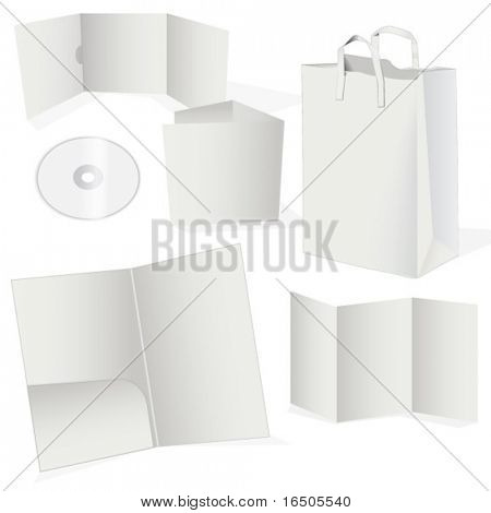set of paper objects for corporate set