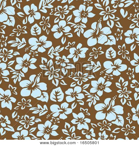 Hibiscus Flower Pattern Stock Vector Bigstock