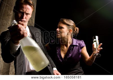 young lady being angry with her boyfriend who got way too drunk again