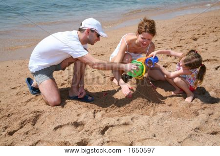 Familly On Beach