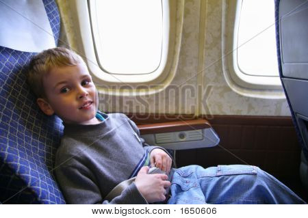 Child Sit In Plane