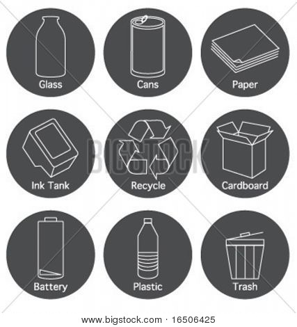 icons for recycle elements