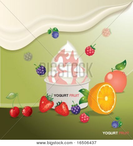 fruits yogurt design